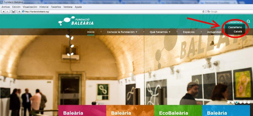 Portada de la web de la Fundación Balearia