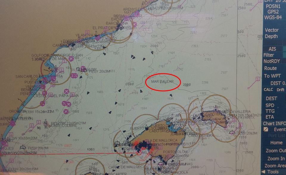 Carta electrónica Mar Balear